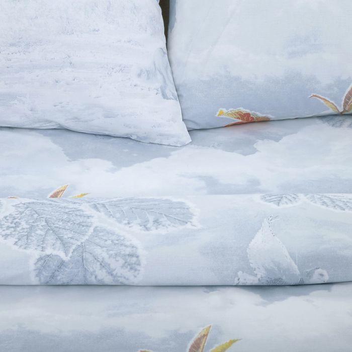 Постельное белье 1,5сп Pastel Первый снег 147*217 см, 150*220 см, 70*70 см 2шт