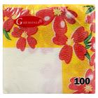 """Салфетки бумажные, Гармония цвета, многоцветие """"Цветочный орнамент"""" 100 л"""
