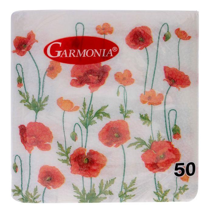 """Салфетки бумажные, Гармония цвета, многоцветие """"МАКИ"""", 50 л"""