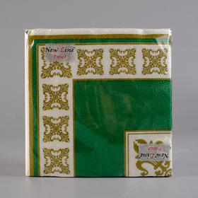 """Салфетки бумажные New line FRESCO """"ВЕРОНА (зелёная)"""", 2-слоя, 33*33, 20 листов"""