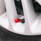 Колпачки на вентиль TORSO, красные, набор 4 шт.