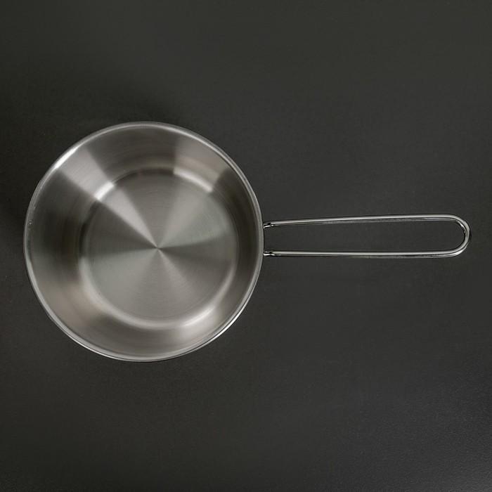 """Кастрюля из нержавеющей стали 1,75 л """"Классика-Прима"""" для кипячения молока с тройным капсульным дном"""