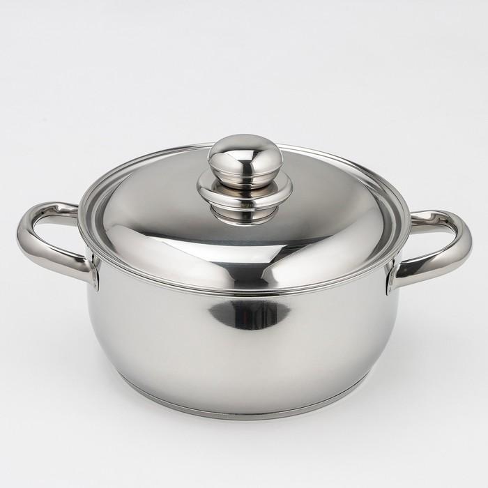 Кастрюля «Классика-Прима», 2,5 л, ТРС-3, с металлической крышкой - фото 308064756