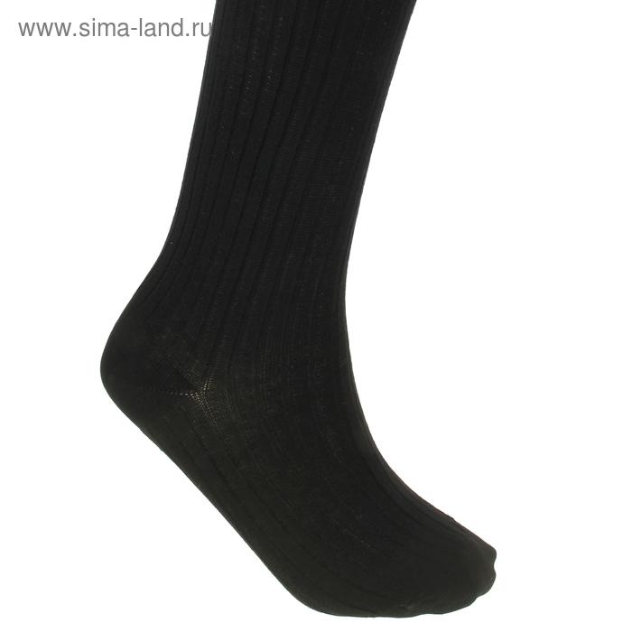 Колготки детские Д01, цвет черный, рост 116-122 см