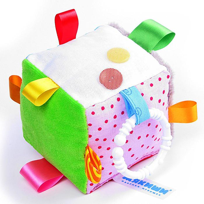 Мягкий Кубик развивающий с петельками - фото 106533629