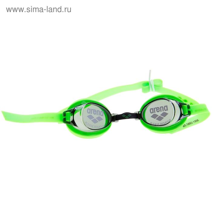 Очки для плавания детские ARENA Bubble 3 Jr, дымчатые линзы, салатовая оправа