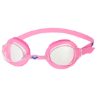 Очки для плавания детские ARENA Bubble 3 Jr, прозрачные линзы, розовая оправа