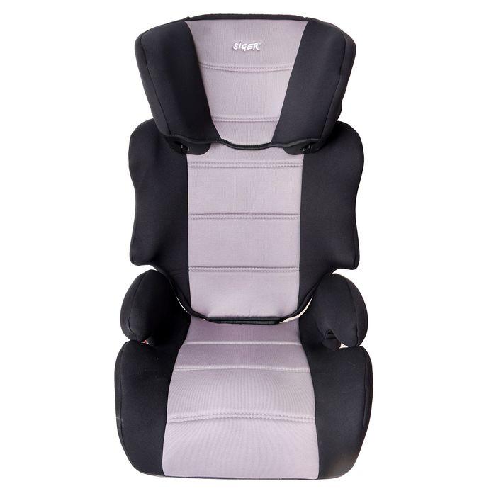 Автокресло-бустер «Смарт», группа 2-3, цвет серый