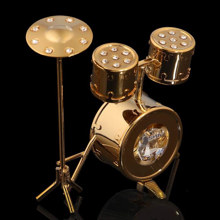 Сувенир «Барабанная установка», 7х2х7 см, с кристаллами Сваровски