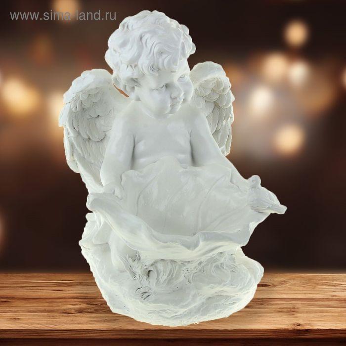 """Статуэтка """"Ангел с лилией"""" белый"""