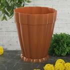"""Горшок для цветов с поддоном 1,5 л """"Фантастика"""", цвет коричневый"""