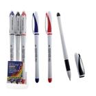 Набор гелевых ручек, 3 цвета, корпус белый с цветными вставками, в блистере