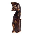 Сувенир Кошка солнечная с лапкой у мордочки 25 см 3BB 03-11F дерево