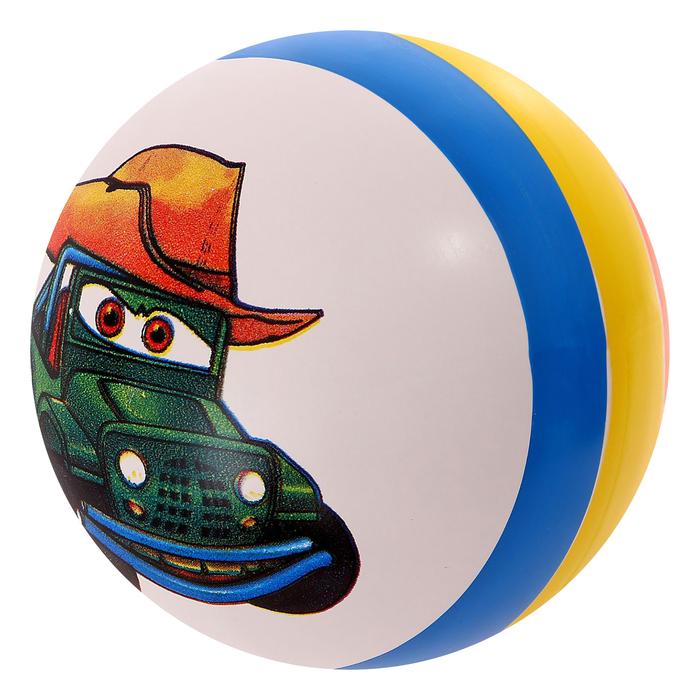 Мяч с рисунком лакированный, цвета МИКС