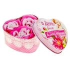 """Мыльные лепестки в шкатулке-сердце """"В день всех влюблённых"""", 3 шт."""