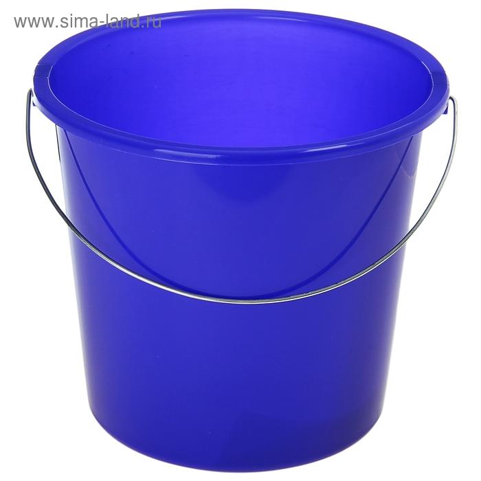Ведро 7 л без крышки, металлическая ручка, цвет лазурно-синий