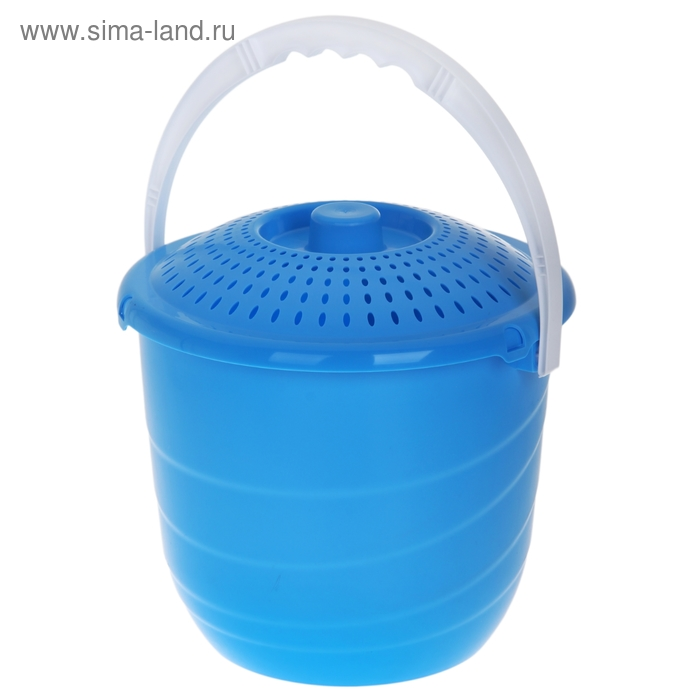 Ведро с крышкой Practic lux, 10 литров, голубая лагуна