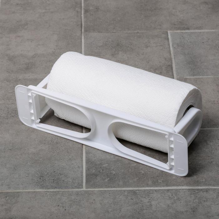 Держатель для полотенец снежно-белый, на шурупах