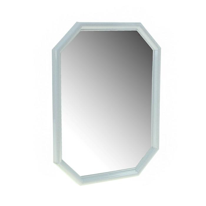 Зеркало 60х46х4 см Oktavia, цвет белый мрамор