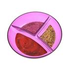 """Менажница 12 см """"Фреш"""", 3 секции, цвет фиолетовый"""
