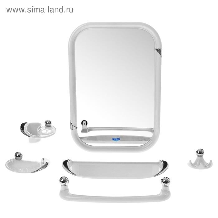 Набор для ванной комнаты Viva style, цвет белый