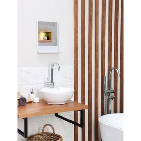 Набор для ванной комнаты Tokio, цвет белый мрамор Ош