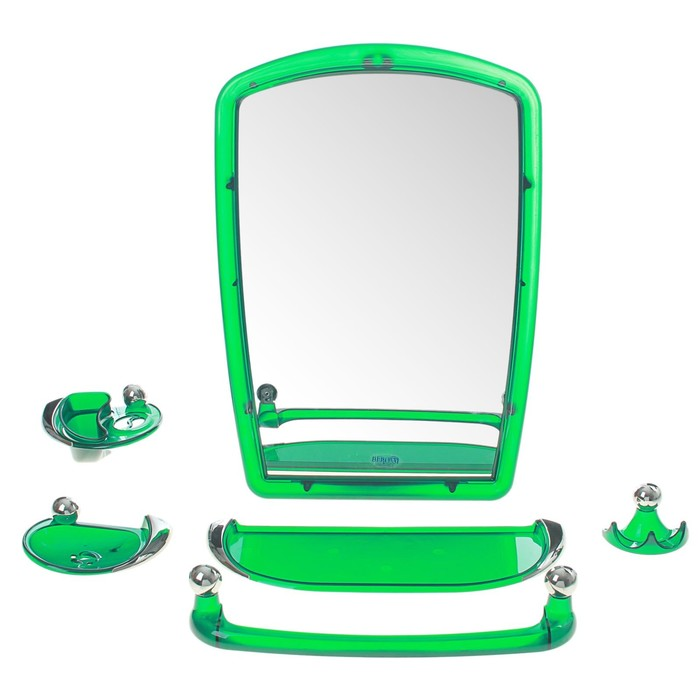Набор для ванной комнаты Viva gracia, цвет зелёный