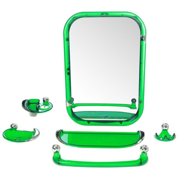 Набор для ванной комнаты Viva style, цвет зелёный
