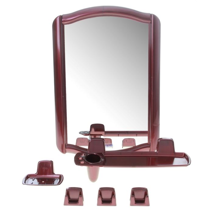 """Набор для ванной комнаты """"Berossi 46"""", цвет рубиновый"""