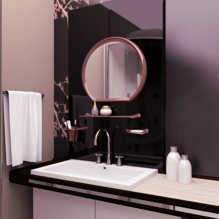 Набор для ванной комнаты Verona, цвет рубиновый