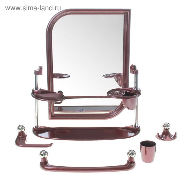 Набор для ванной комнаты Viktoria light, цвет рубиновый