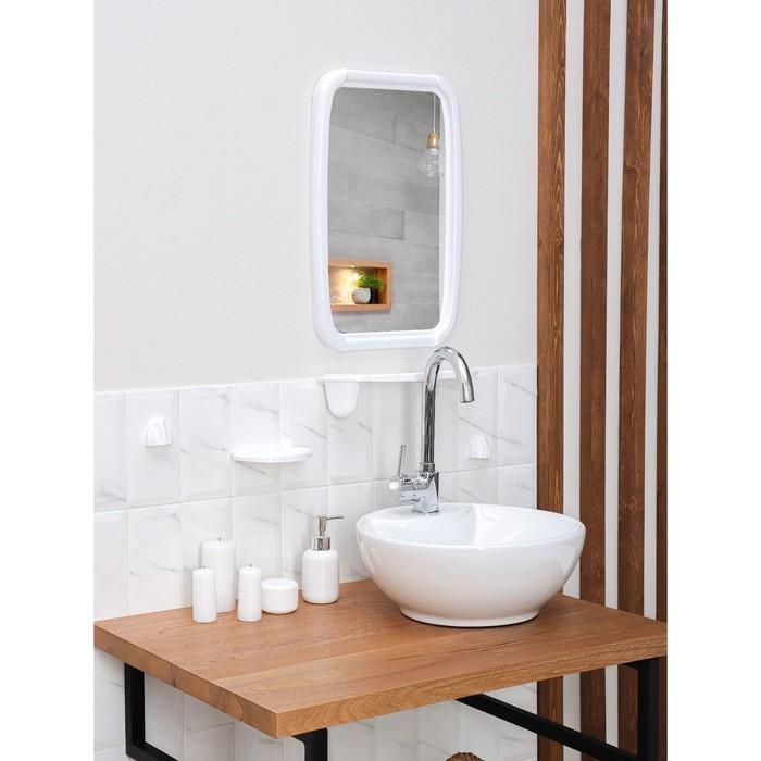 "Набор для ванной комнаты ""Optima"", цвет белый"