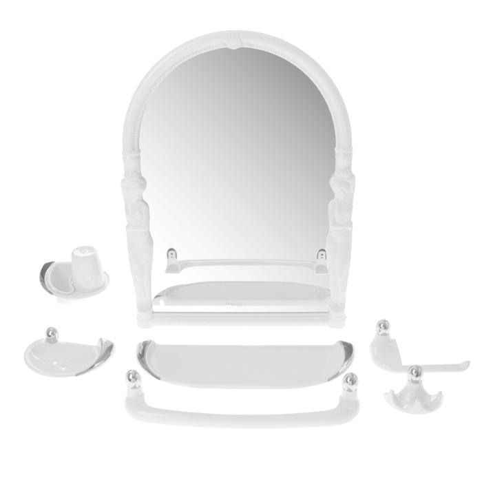 "Набор для ванной комнаты ""Viva ellada"", цвет белый"