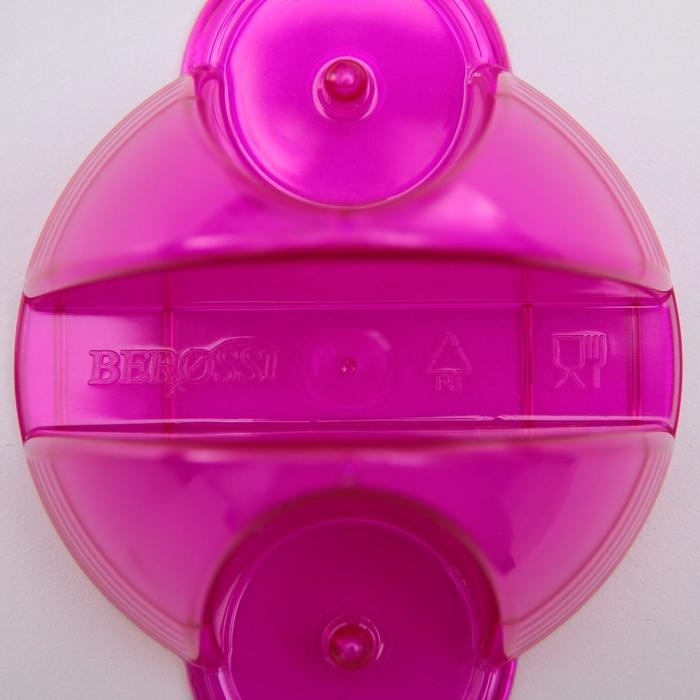 """Набор для специй """"Фреш"""", 2 предмета на подставке с салфетницей, цвет гранат"""