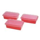 Набор контейнеров для заморозки 1 л Zip, 3 шт, цвет красный