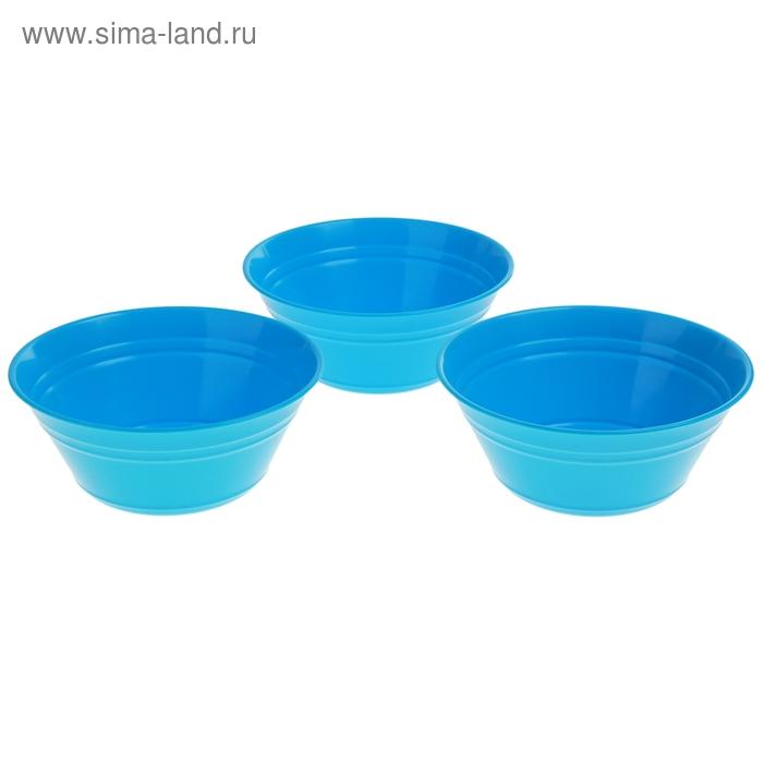 Набор салатников Patio, 3 шт 2 л, голубая лагуна