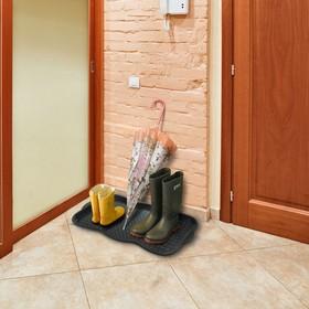 Лоток для обуви, 75×38,5×3 см, цвет чёрный - фото 4643482