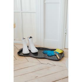 Лоток для обуви, 75×38,5×3 см, цвет чёрный - фото 7392062