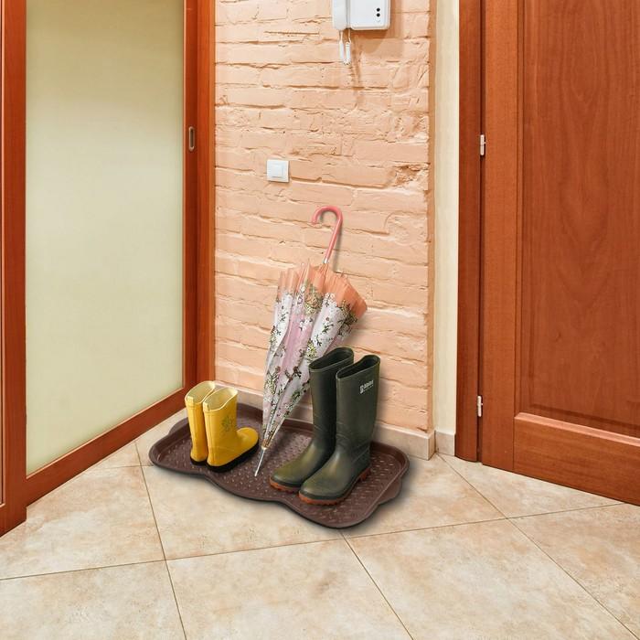 Поддон для обуви, цвет шоколадный