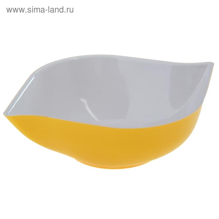 """Салатник 500 мл """"Эстель"""", цвет желтый"""