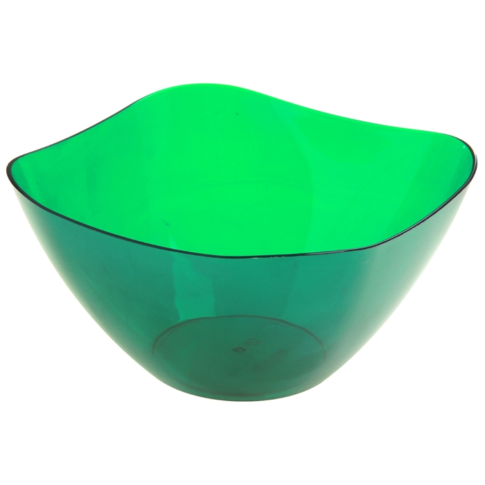 Салатник 1 л, цвет зеленый полупрозрачный