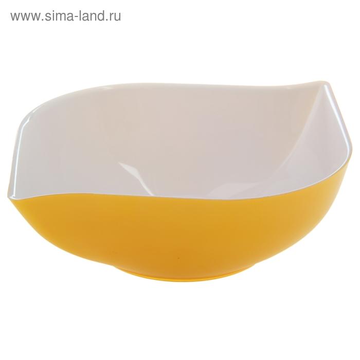 """Салатник 1 л """"Эстель"""", цвет желтый"""