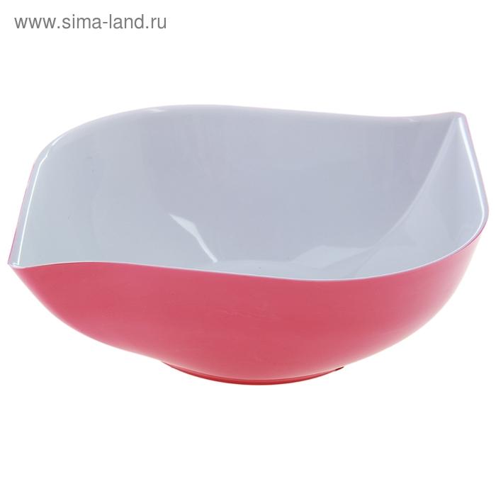 """Салатник 1 л """"Эстель"""", цвет розовый"""