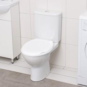 Сиденье для унитаза с крышкой, цвет снежно-белый