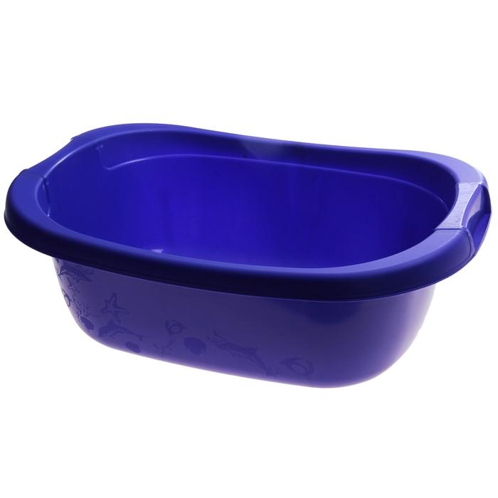 Таз прямоугольный 22 л, цвет лазурно-синий - фото 4637267