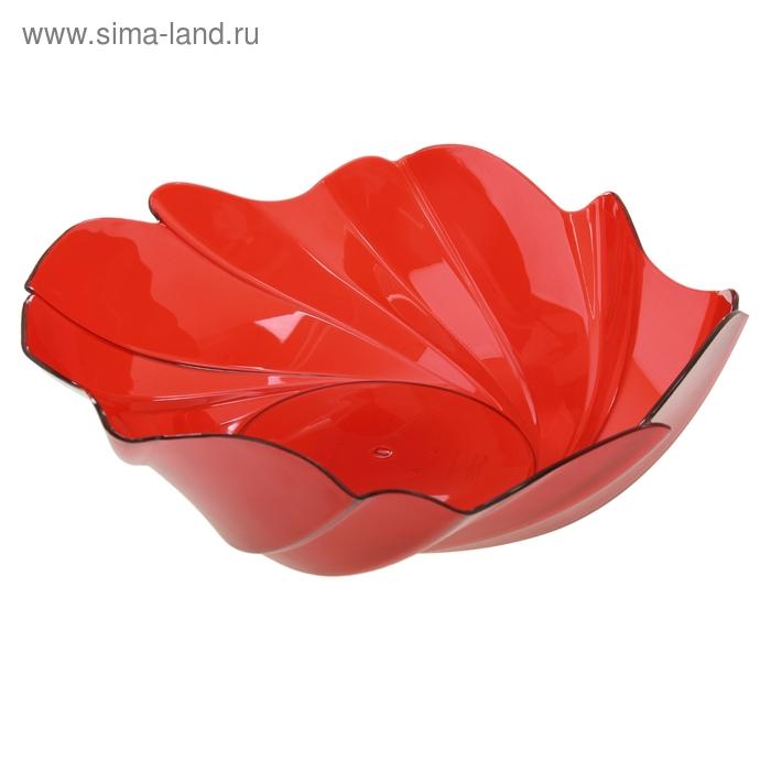 """Ваза для фруктов 28 см """"Акри"""", цвет красный"""