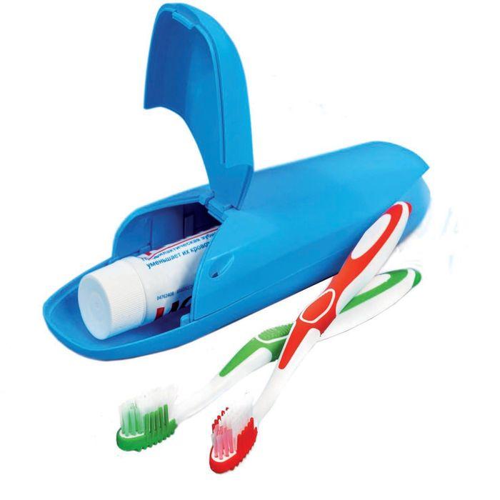 """Футляр для зубной щетки """"Путешествие"""", цвет голубой"""