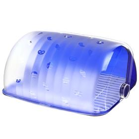 Хлебница с крышкой BEROSSI «Санти», 34,5×27,3×16,5 см, цвет синий