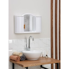 Шкафчик зеркальный для ванной комнаты 'Арго', цвет снежно-белый Ош