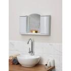 """Шкафчик зеркальный для ванной комнаты """"Арго"""", цвет белый мрамор - фото 4651404"""